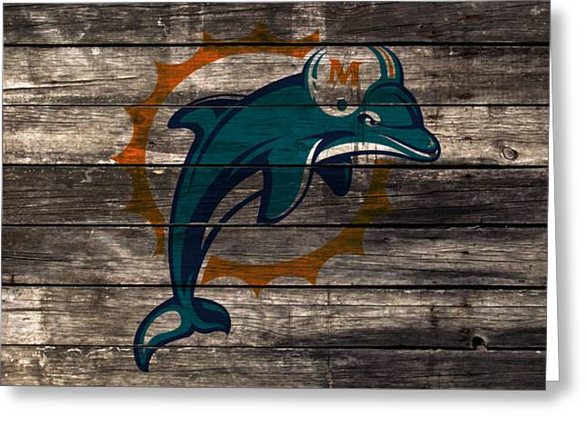 The Miami Dolphins W1 Greeting Card by Brian Reaves