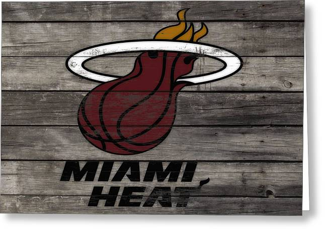 The Miami Heat 3a Greeting Card by Brian Reaves