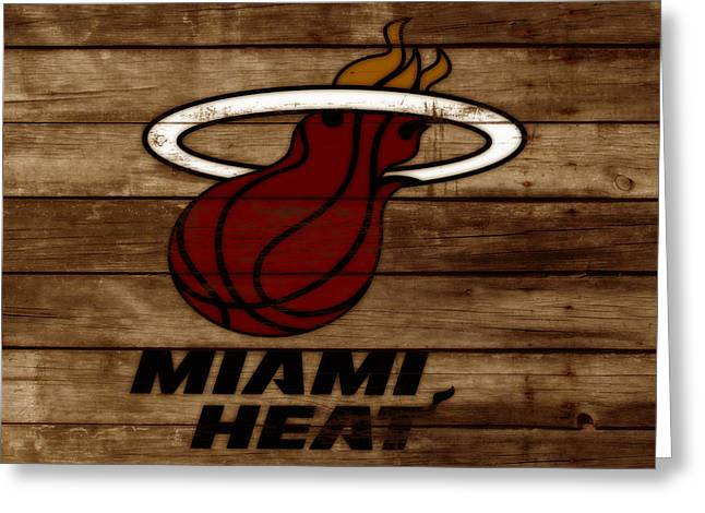The Miami Heat 3b Greeting Card by Brian Reaves