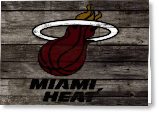 The Miami Heat 3h Greeting Card by Brian Reaves