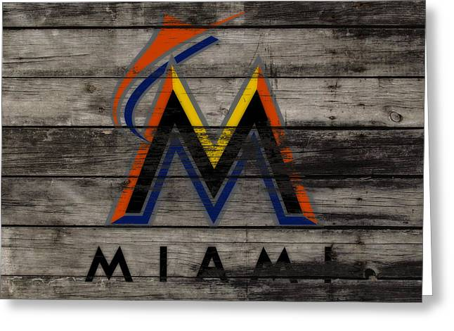 The Miami Marlins 1a Greeting Card