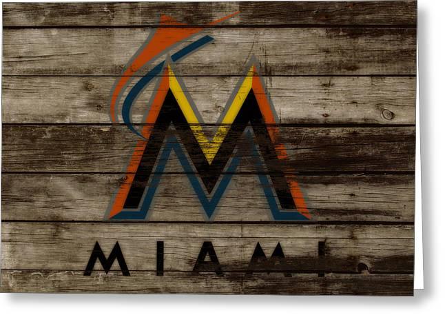 The Miami Marlins 1b Greeting Card