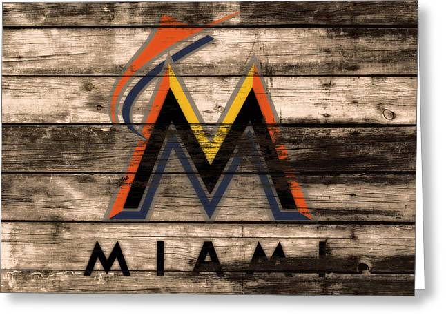The Miami Marlins 1e Greeting Card by Brian Reaves