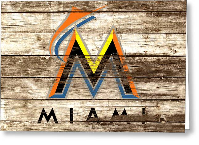 The Miami Marlins Greeting Card