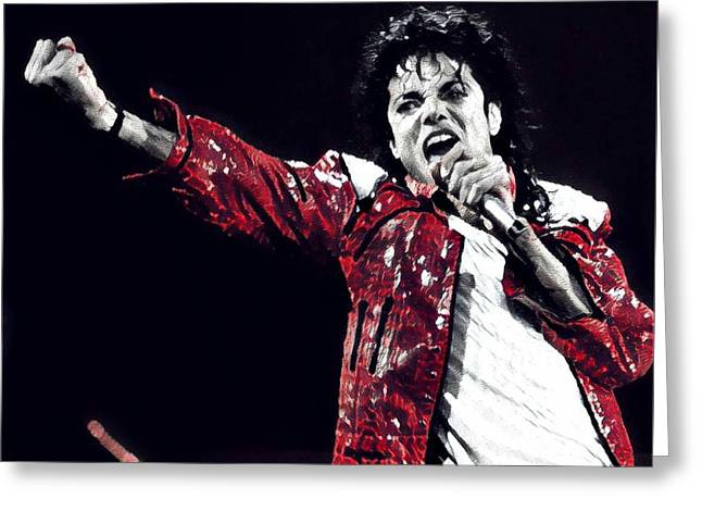 The Michael Jackson's Roar  Greeting Card by Chris X