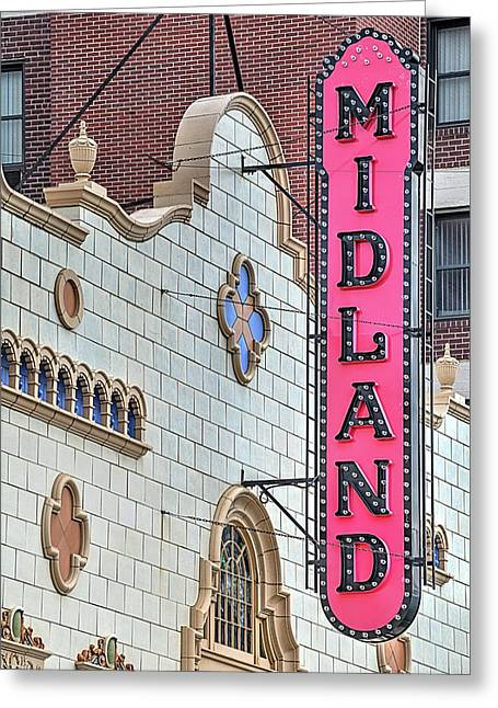 The Midland Theater  Greeting Card by JC Findley