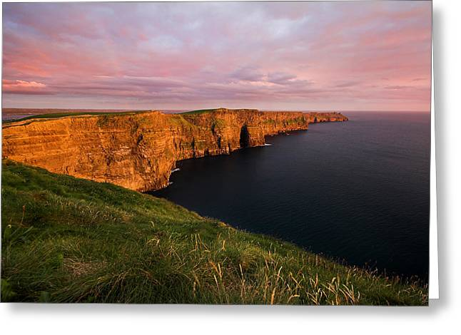 The Mighty Cliffs Of Moher In Ireland Greeting Card by Pierre Leclerc Photography