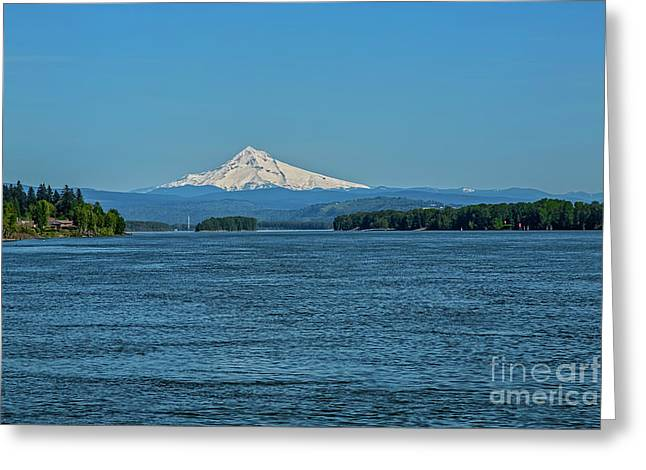 The Mighty Columbia Greeting Card by Jon Burch Photography