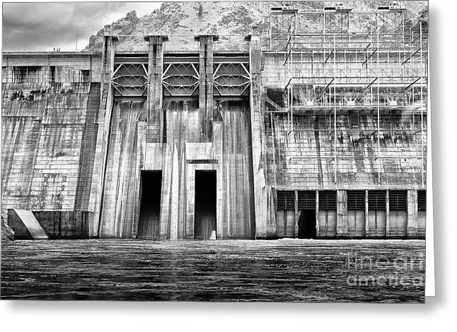The Mighty Dam Architecture Art By Kaylyn Franks Greeting Card by Kaylyn Franks