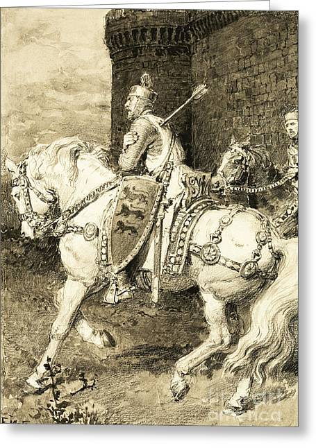 The Mighty King Of Chivalry  Richard The Lion Heart Greeting Card