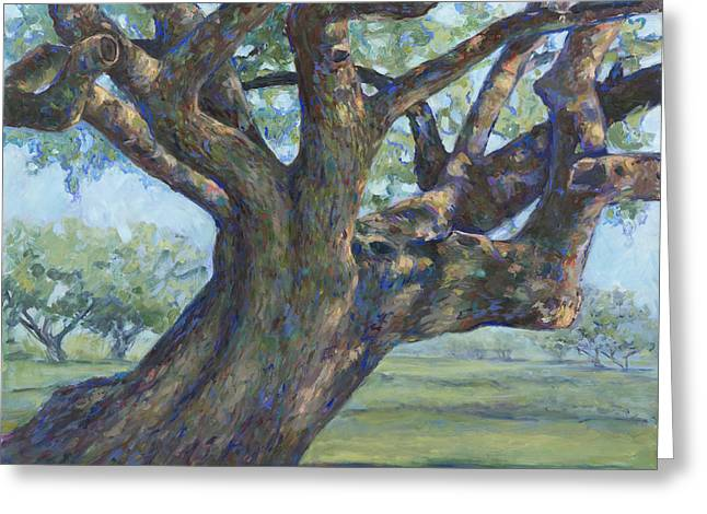 The Mighty Oak Greeting Card by Billie Colson