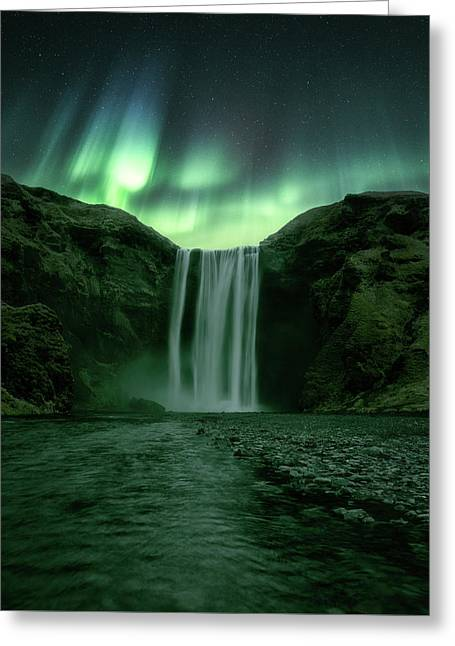 The Mighty Skogafoss Greeting Card