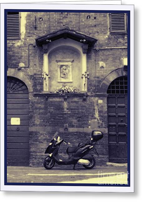 The Mighty Vespa Greeting Card by Karen Lewis