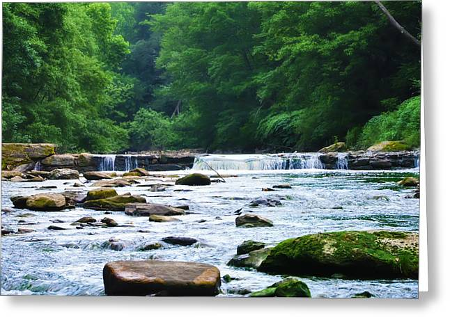 The Mighty Wissahickon Greeting Card by Bill Cannon