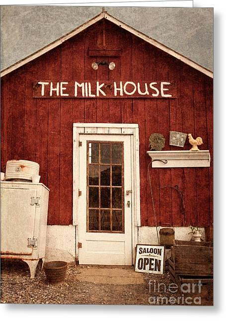 The Milk House Greeting Card by John Stephens