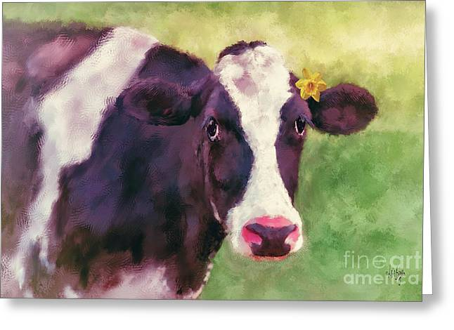 Greeting Card featuring the photograph The Milk Maid by Lois Bryan