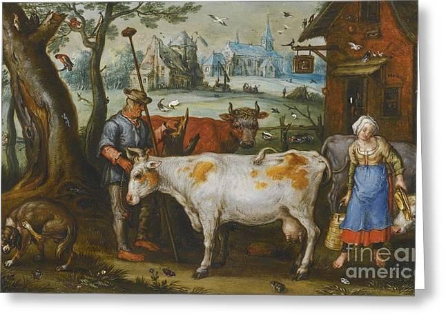 The Milkmaid Greeting Card
