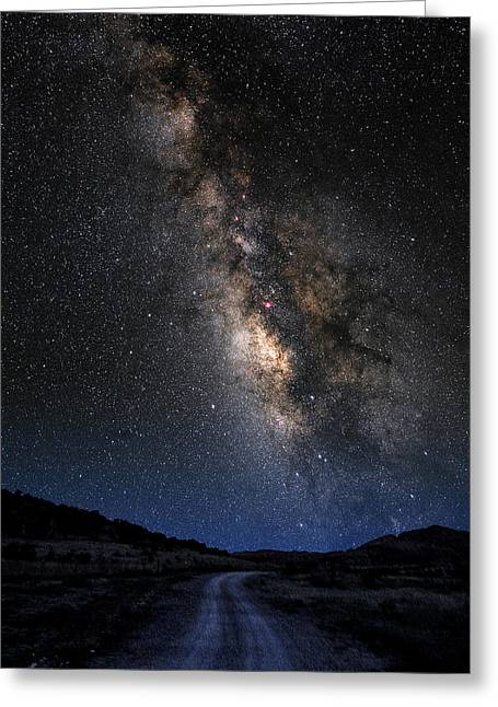 The Milky Road Version Two Greeting Card by Larry Landolfi