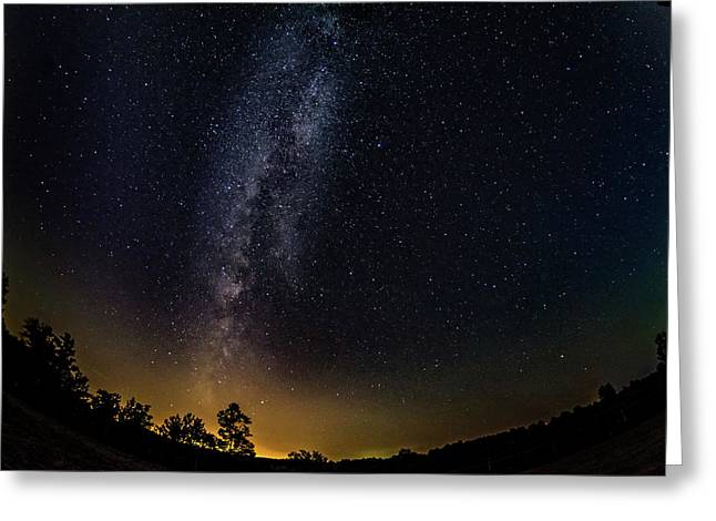 The Milky Way - A Fisheye Lens View Greeting Card