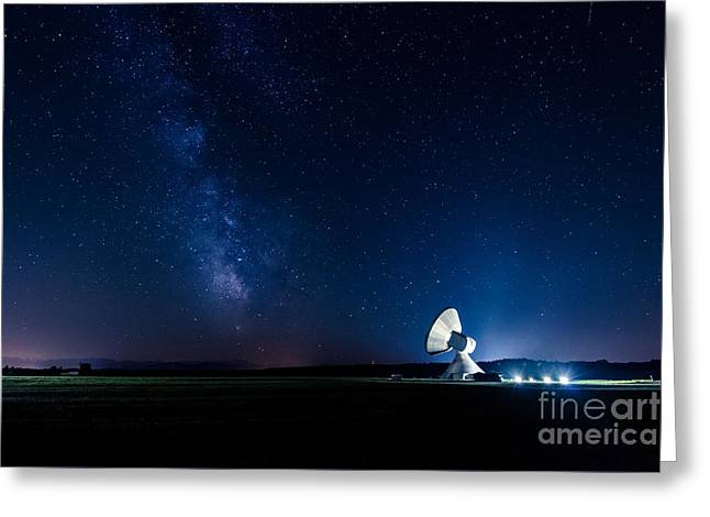 The Milky Way Above Bavaria Greeting Card by Hannes Cmarits