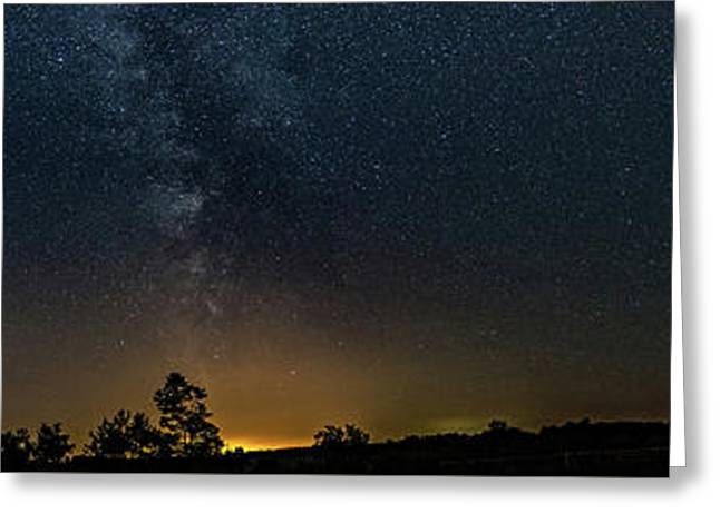 The Milky Way - Center Stage - 180 Panorama Greeting Card