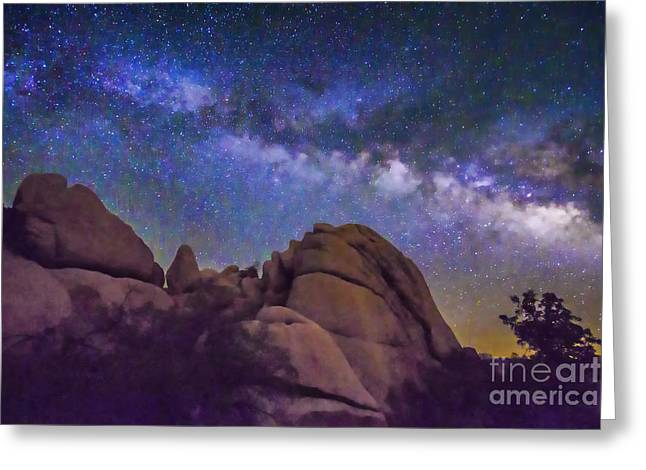 Milky Way Over Indian Rock Greeting Card