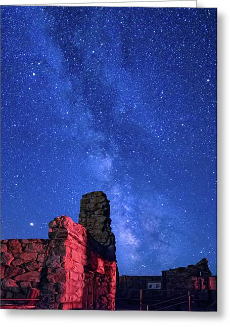 The Milky Way Over The Crest House Greeting Card