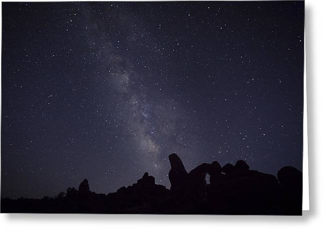 The Milky Way Over Turret Arch Greeting Card