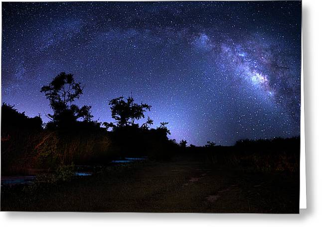 The Milky Way Trail Greeting Card