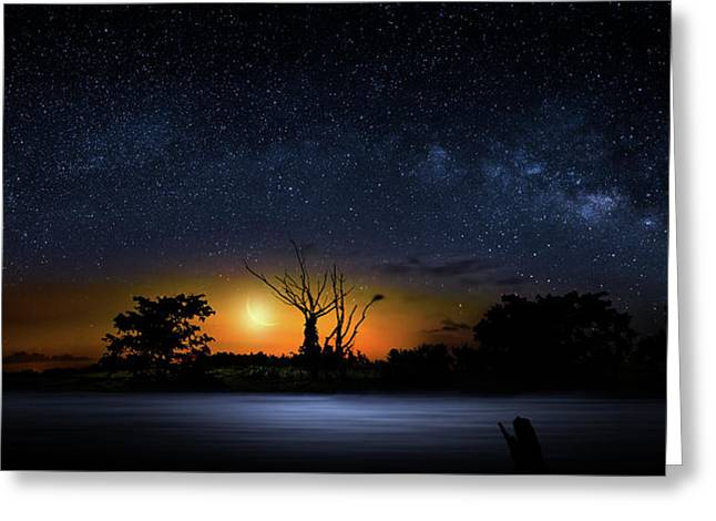 The Milky Way Tree Greeting Card
