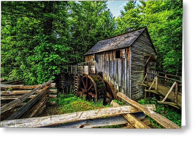 The Mill Greeting Card by Debra and Dave Vanderlaan