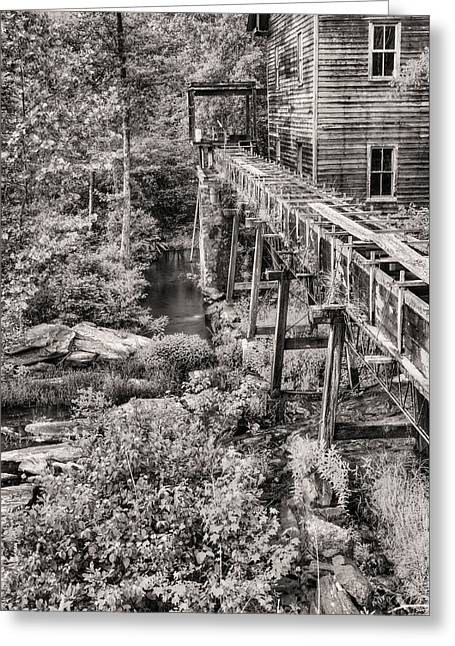 The Mill In Black And White Greeting Card
