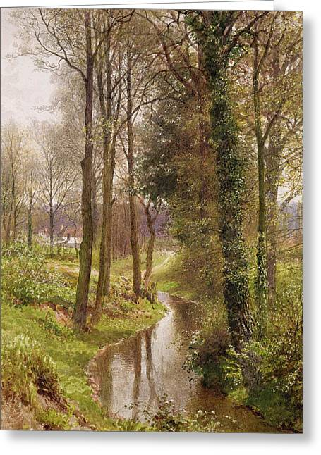 The Mill Stream Greeting Card by Henry Sutton Palmer