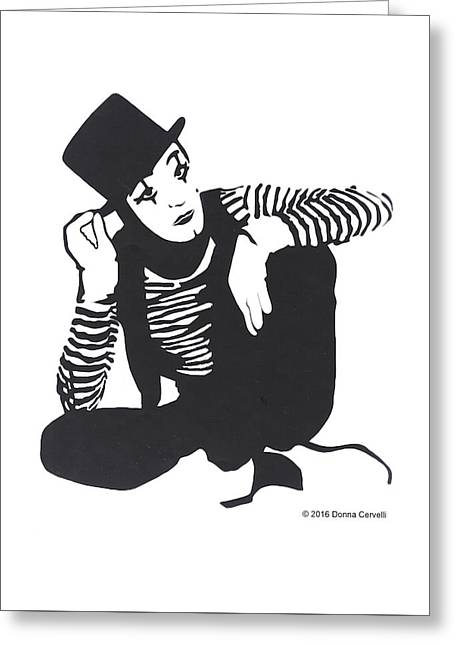 The Mime Greeting Card