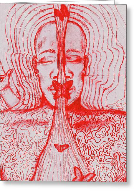 The Minds Eye Greeting Card by Elizabeth Hoskinson