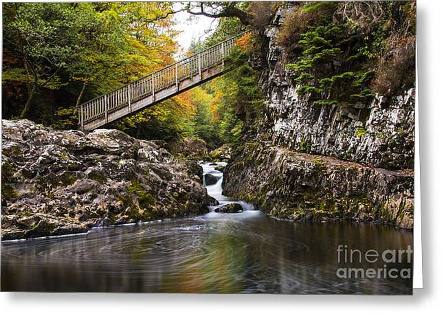 The Miners Bridge  Greeting Card by Chris Evans