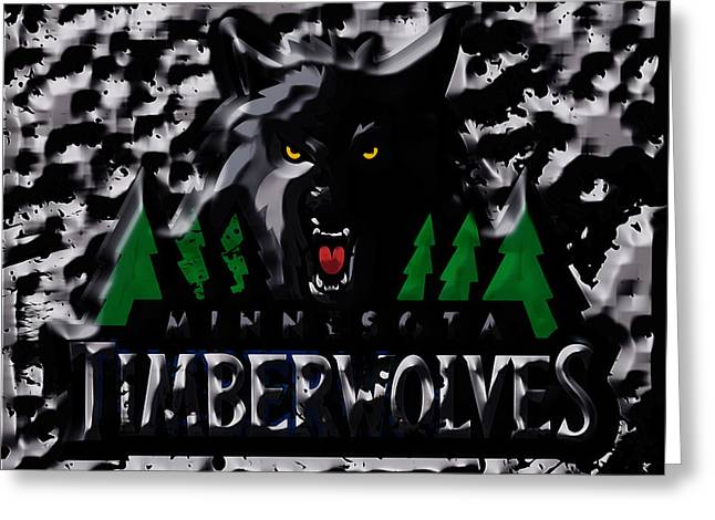 The Minnesota Timberwolves 1a Greeting Card by Brian Reaves