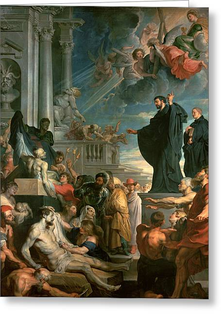 The Miracles Of St. Francis Xavier Greeting Card by Peter Paul Rubens