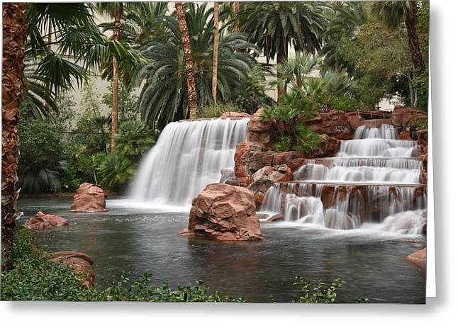 Greeting Card featuring the photograph The Mirage Las Vegas by Dung Ma