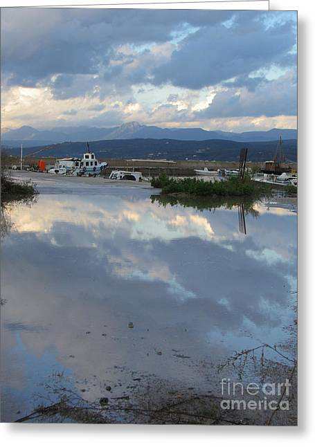 The Mirror Of Pylos  Greeting Card by Clay Cofer