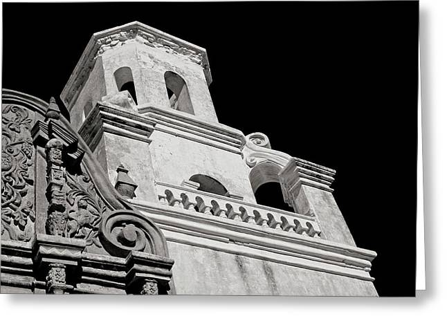 The Bell Tower - San Xavier Mission Greeting Card by Lucinda Walter