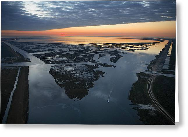 Confluence Greeting Cards - The Mississippi River Gulf Outlet Greeting Card by Tyrone Turner