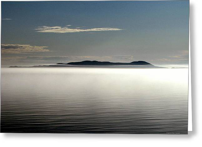 The Mists Of Pic Island Greeting Card by Laura Wergin Comeau