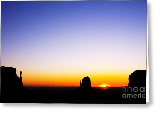 The Mittens And Merrick Butte At Sunrise Greeting Card
