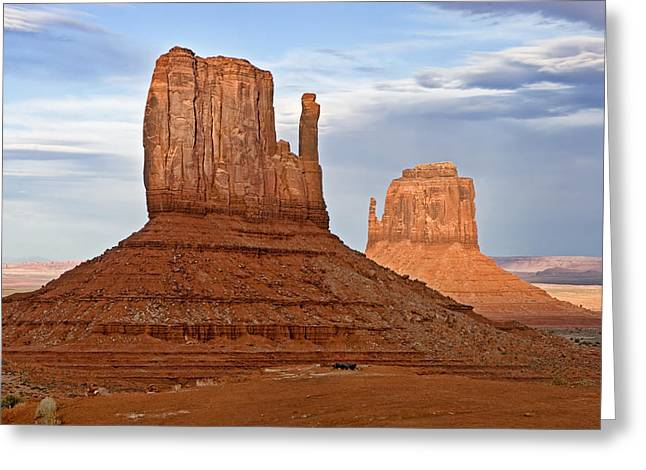 Desert Greeting Cards - The Mittens Greeting Card by Peter Tellone