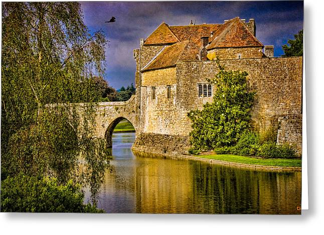 The Moat At Leeds Castle Greeting Card