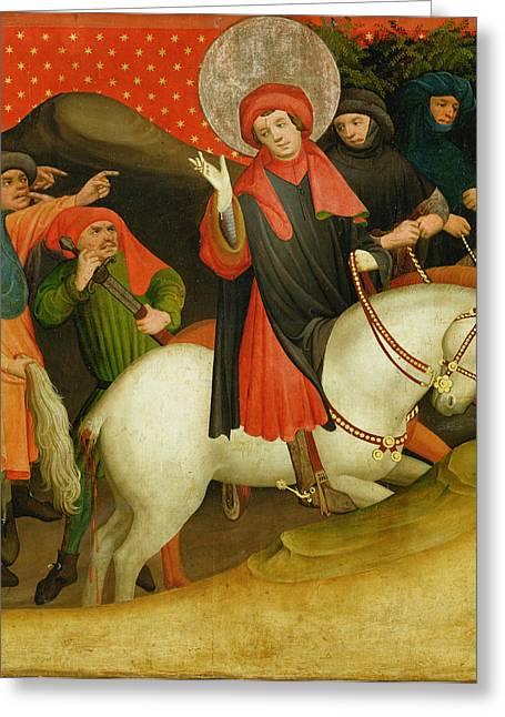 The Mocking Of Saint Thomas Greeting Card by Master Francke