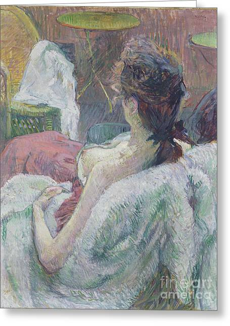 The Model Resting By Henri De Toulouse-lautrec Greeting Card