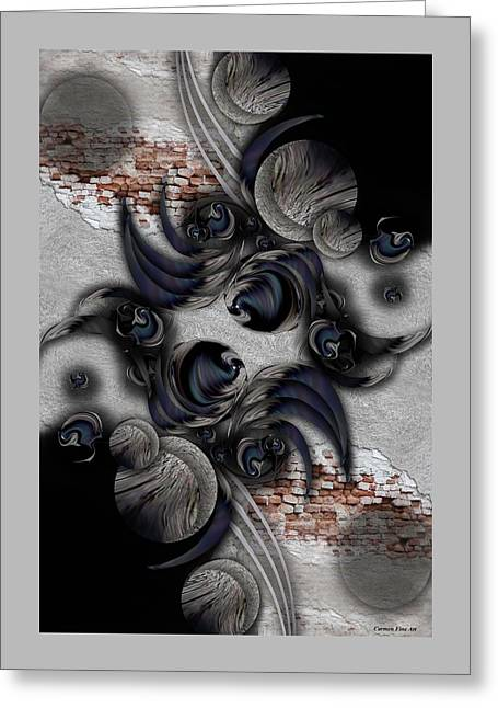 The Modern Projection Greeting Card by Carmen Fine Art