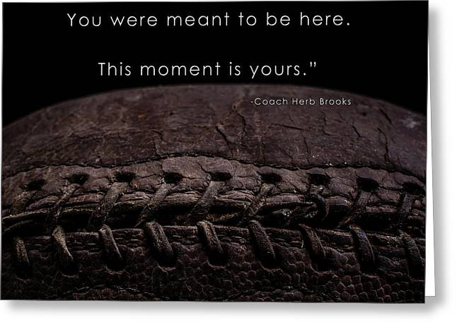 The Moment Is Yours Greeting Card by Edward Fielding